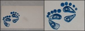 Quilling Card - Feet by Meichu