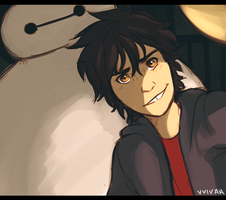 Hiro and Baymax by vvivaa
