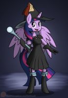 Black Mage Twilight Sparkle by Xain-Russell
