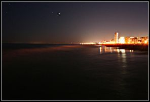 Lido de Jesolo at Night by X3RoN