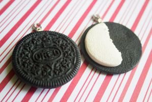polymer clay oreo best friend charms by l337Jacqui