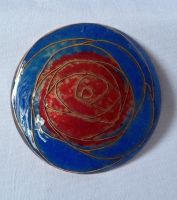 Jewelry: Brooch 001, 'Watercolor Rose' by 4pplemoon