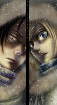 S.N.K - Ymir and Christa by excalibur321