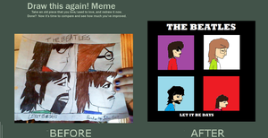Beatles-Gorillaz Parody Before-After by OkasiOtaku