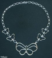 butterfly necklace by harlewood