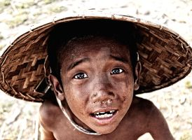Young boy in Myanmar 2 by RehahnPhotography