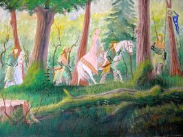The Passing of the Elves by hcollazo2000