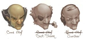 Count Olaf's bad disguises by tigre-lys