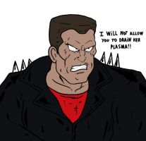 Blade from Spider-Man The Animated Series by Agent-Jin