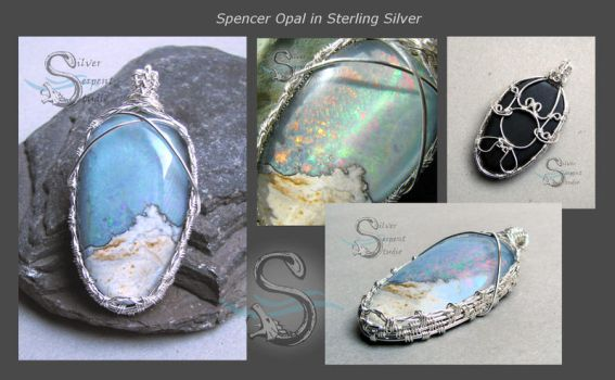 Spencer Opal Mountain Scene Pendant by PurlyZig