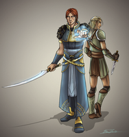 Commission: Cadryn and Zevran by shaydh