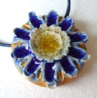 Daisy Craters Pendant by c-urchin