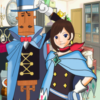 Trucy Wright and Mr. Hat by Mellotaku