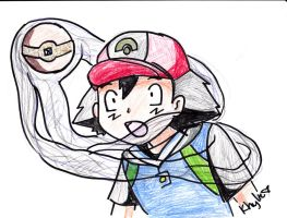 Ash Ketchum 'Uhhh' colored by kittyface27