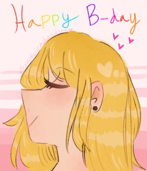 Happy B-day, Becky! by SongBirdDoodles
