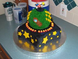 Super Mario Galaxy Cake by omgitsalisa