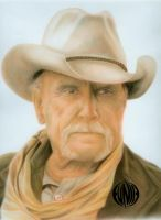 pastel portrait: robert duvall by eymage