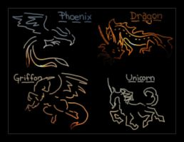 Mythical Beasts by samberkitty