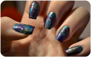 Paint- nails by ViiviASD