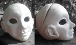 WIP 1: Head - Dhonia BJD Stone Clay Sculpture by Madda-Sketches