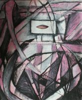 Lure in Pink and Black Abstraction by RobLock