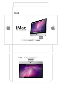iMac Box Papercraft by facundoneglia