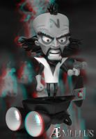 Dr. Neo Cortex (anaglyph) by aemiliuslives