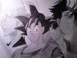 ichigo,goku,luffy  (finished) by shadowvid55