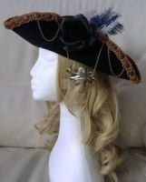 velvet steampunk pirate hat (selfmade) by visu-doll