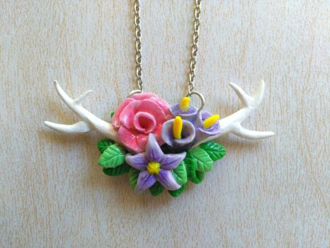Antler Necklace by Lily-L