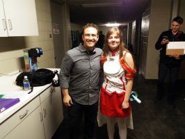 Me and Bryce Papenbrook! EvilleCon2016 by ChibiRainbowStarr