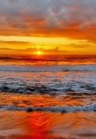 Moonstone Beach Sunset by robgbob