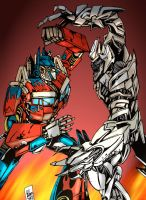 Movie Optimus vs Megatron by PowermasterJazz