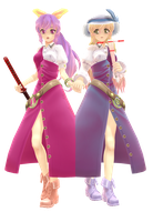 MMD-Yorihime and Toyohime by ciripahn
