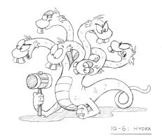 Monster a Day Art Challenge 10-6: HYDRA by Rhodeway