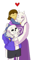 Happy Family (Spoilers-Undertale) by Simatra