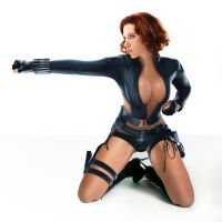 Skimpy Black Widow by GruesomeFlash