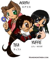 FFVIIGirls by rongs1234