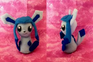 Glaceon Plushie by ha-nata