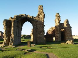 Tynemouth Abbey 8 by Amy-the-Faerie