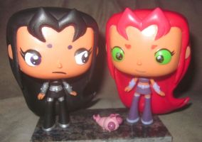 Blackfire with Starfire POP figures by TeenTitans4Evr