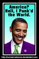 Obama Punk'd America by Conservatoons
