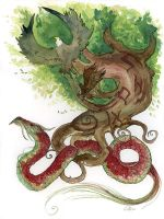 Yggdrasil Watercolor Tattoo by shadowgirl