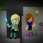 In the Night :GIFT: Minecraft. by Rinquettes120