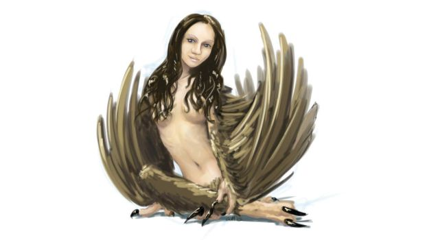 Monster Girl Challenge 01 - Harpy by GiantMosquito