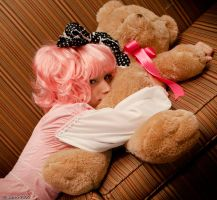 A hug for Mr. Teddy by cupcakecosplay