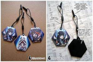 Kill la Kill Girls Phone Charms by DragonBeak