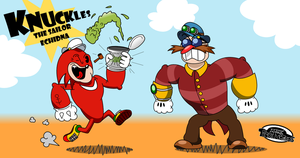 Knuckles uses spinach, not steroids! by MarkProductions