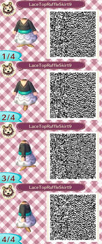 Lace Top Ruffle Skirt Teal2 QR Code by ChibiBeeBee