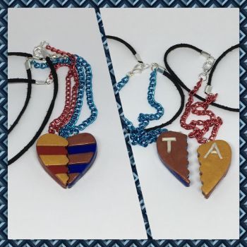 Gryffindor and Ravenclaw Friendship Half Necklaces by okapirose